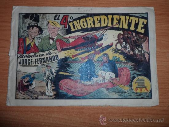 JORGE Y FERNANDO Nº 53 EDITORIAL HISPANO AMERICANA 1942 20X32 ORIGINAL (Tebeos y Comics - Hispano Americana - Jorge y Fernando)
