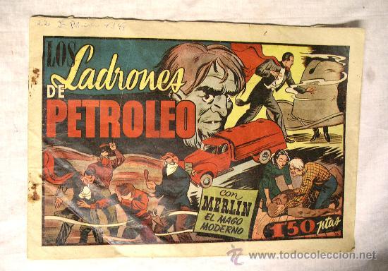 Nº 26 EL MAGO MERLIN. LOS LADRONES DE PETROLEO. HISPANO AMERICANA 1942. (Tebeos y Comics - Hispano Americana - Merlín)