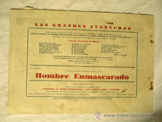 Tebeos: Nº 26 El Mago Merlin. Los ladrones de petroleo. Hispano Americana 1942. - Foto 2 - 39226207