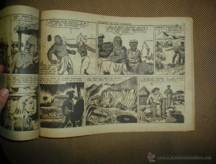Tebeos: AVENTURA DEL HOMBRE ENMASCARADO. LA ALDEA DE LOS CANIBALES. EDICIONES HISPANO AMERICANA - Foto 4 - 18026476