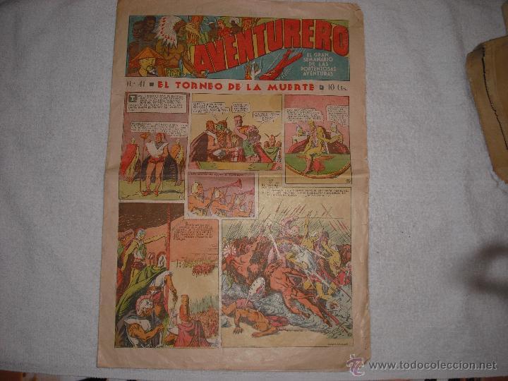 AVENTURERO Nº 41 EL TORNEO DE LA MUERTE 15 CTS. (Tebeos y Comics - Hispano Americana - Aventurero)