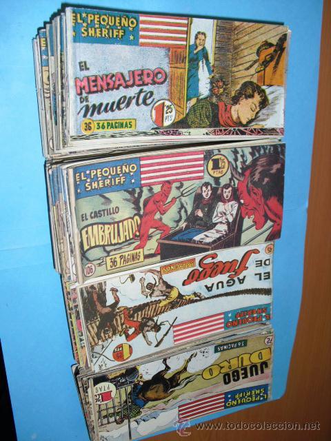 EL PEQUEÑO SHERIFF,DE HISPANO AMERICANA 1948,113 TEBEOS,ORIGINALES (Tebeos y Comics - Hispano Americana - Otros)