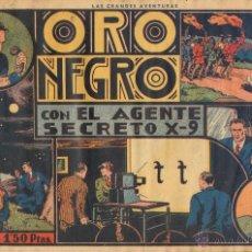 Tebeos: TEBEOS-COMICS GOYO - AGENTE SECRETO X 9 - ORO NEGRO - HISPANOAMERICANA - 1941 - ALEX RAYMOND *XX99. Lote 40466723