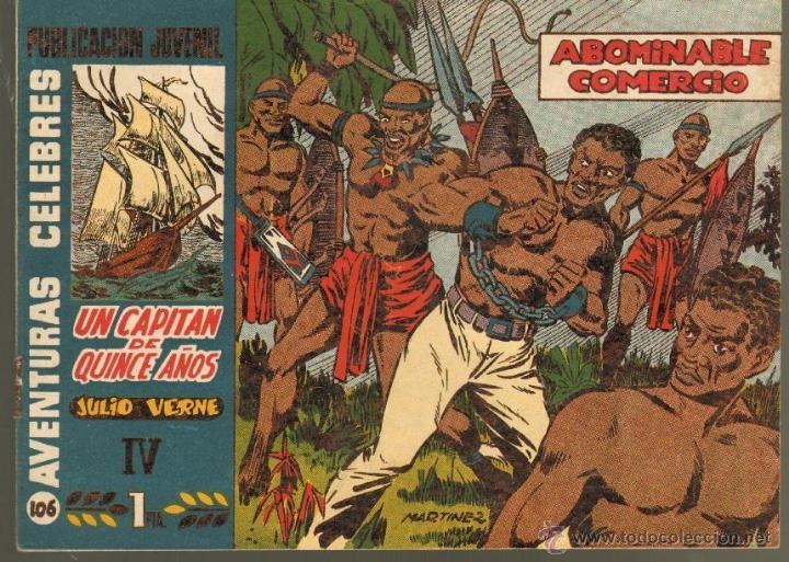 TEBEOS-COMICS GOYO - AVENTURAS CELEBRES 106 - UN CAPITAN DE 15 AÑOS - Nº 4 - MARTINEZ OSETE *BB99 (Tebeos y Comics - Hispano Americana - Otros)