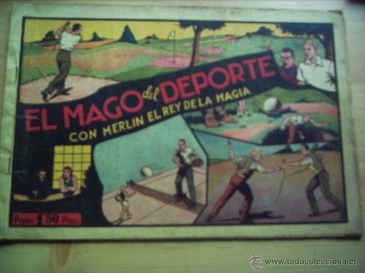EL MAGO DEL DEPORTE, CON MERLÍN, EL REY DE LA MAGIA. (Tebeos y Comics - Hispano Americana - Merlín)