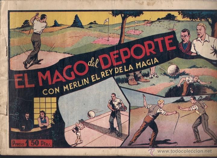 Tebeos: El Mago del Deporte, con Merlín, el Rey de la Magia. - Foto 2 - 40628316
