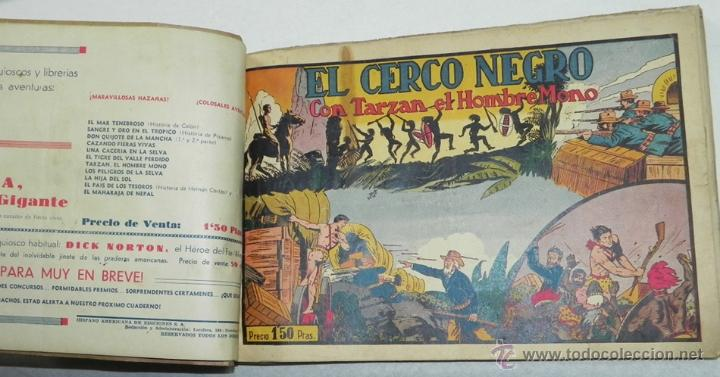 TARZÁN, 10 NUMEOS ENCUADERNADOS - Nº 10, 11, 12, 13, 14, 15, 16, 17, 18 Y 19 - EDITORIAL HISPANO AME (Tebeos y Comics - Hispano Americana - Tarzán)