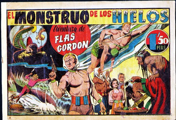 TEBEOS-COMICS GOYO - FLAS FLASH GORDON 1 - EL MONSTRUO DE LOS HIELOS - HISPANOAMERICANA - 1946 *AA99 (Tebeos y Comics - Hispano Americana - Flash Gordon)