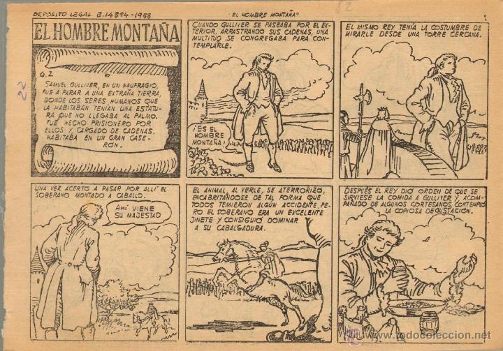 TEBEOS-COMICS CANDY - AVENTURAS CELEBRES - LOS VIAJES DE GULLIVER - Nº 2 - 1958 - BATTLLORI *AA99 (Tebeos y Comics - Hispano Americana - Otros)