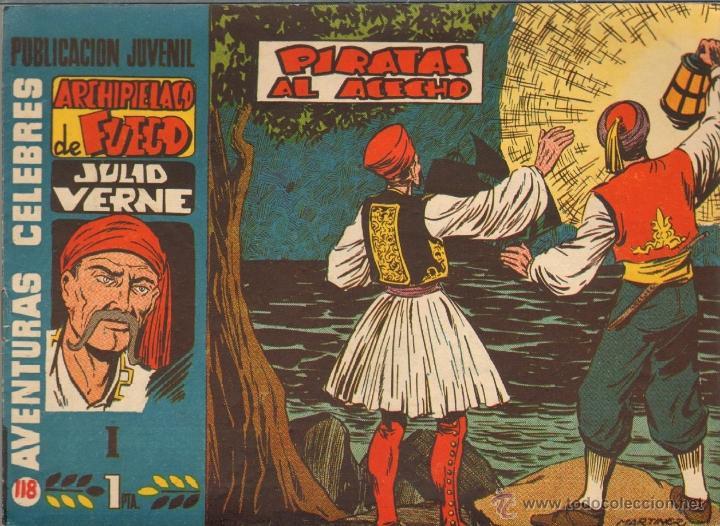 TEBEOS-COMICS CANDY - AVENTURAS CELEBRES 118 - ARCHIPIELAGO DE FUEGO 1 - 1958 - MARTINEZ OSETE *AA99 (Tebeos y Comics - Hispano Americana - Otros)