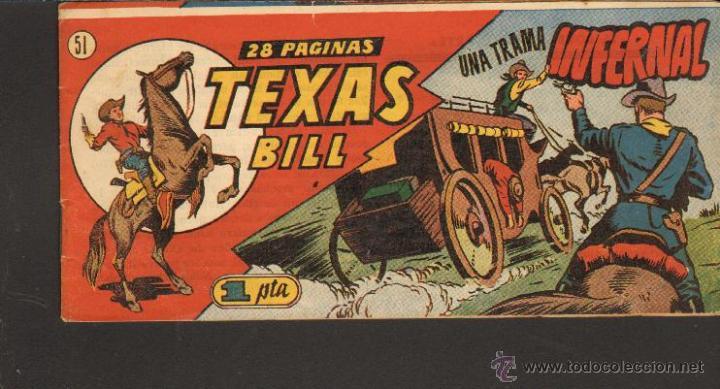 TEBEOS-COMICS CANDY - TEXAS BILL - TEX WILLER - Nº 51 - 1949 - TEX 1ªS AVENTURAS *AA99 (Tebeos y Comics - Hispano Americana - Otros)