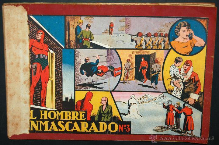EL HOMBRE ENMASCARADO. ALBUM ROJO Nº 3 ORIGINAL. ED. HISPANO AMERICANA (Tebeos y Comics - Hispano Americana - Hombre Enmascarado)
