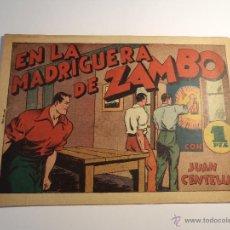 Tebeos: JUAN CENTELLA. EN LA MADRIGUERA DE ZAMBO. HISPANO AMERICANA. ORIGINAL. . Lote 42676577