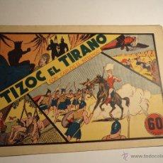 Tebeos: CARLOS EL INTREPIDO. TIZOC EL TIRANO. HISPANO AMERICANA. ORIGINAL. Lote 42690378
