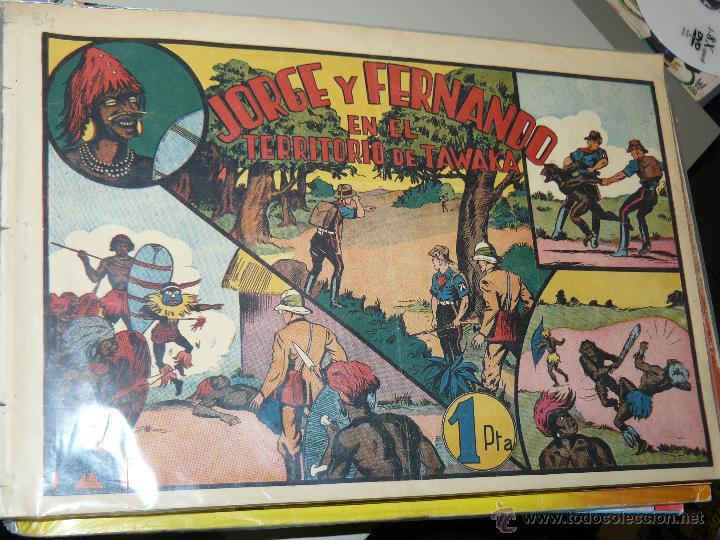 TEBEOS-COMICS CANDY - JORGE Y FERNANDO 34 - HISPANOAMERICANA 1940 - TERRITORIO DE TAWAKA *AA98 (Tebeos y Comics - Hispano Americana - Jorge y Fernando)