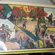 Tebeos: TEBEOS-COMICS CANDY - JORGE Y FERNANDO 34 - HISPANOAMERICANA 1940 - TERRITORIO DE TAWAKA *AA99. Lote 43210929