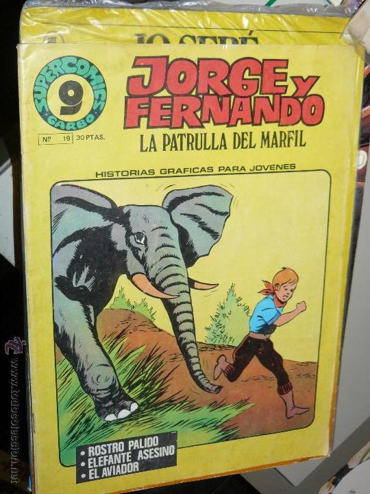 TEBEOS-COMICS CANDY - JORGE Y FERNANDO 19 - GARBO - 1973 - ROSTRO PALIDO Y OTRAS *CC99 (Tebeos y Comics - Hispano Americana - Jorge y Fernando)