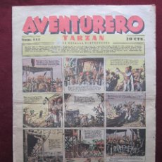 Tebeos: AVENTURERO Nº 112. AGOSTO DE 1937. HISPANOAMERICANA. TARZAN DE HAL FOSTER, FLASH GORDON, MERLIN, ETC. Lote 43295085