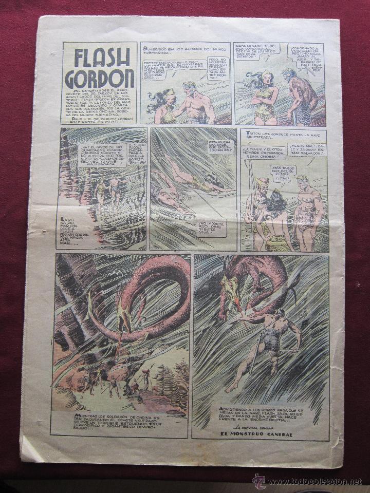 Tebeos: Aventurero Nº 112. Agosto de 1937. Hispanoamericana. Tarzan de Hal Foster, Flash Gordon, Merlin, etc - Foto 2 - 43295085