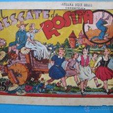 Tebeos: EL RESCATE DE ROSITA , NUMERO 2 IGA INFANTIL DE LAS GRANDES AVENTURAS 1944 , HISPANO AMERICANA. Lote 43427031