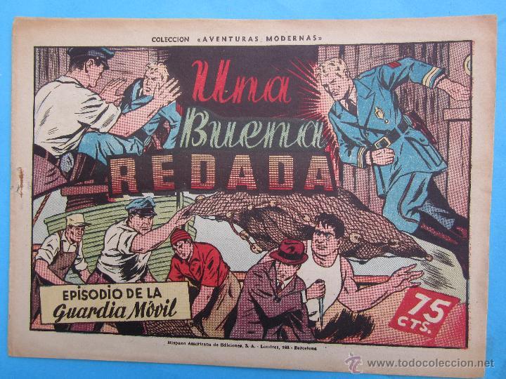 GUARDIA MOVIL . NUMERO 10 , UNA BUENA REDADA , HISPANO AMERICANA 1946 (Tebeos y Comics - Hispano Americana - Otros)