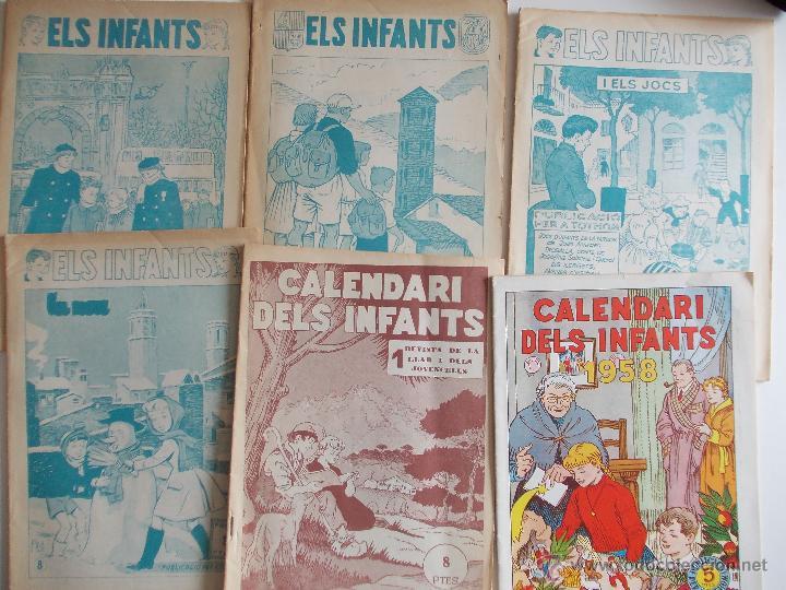 LOTE ELS INFANTS-6 EJEMPLARES-HISPANO AMERICANA-AÑOS 50--MUY BUEN ESTADO-CON DOS EXTRAS 57 Y 58 (Tebeos y Comics - Hispano Americana - Otros)
