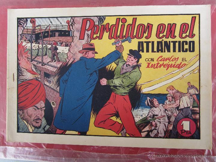 CARLOS EL INTREPIDO , N. 19 , PERDIDOS EN EL ATLANTICO , HISPANO AMERICANA 1942 BAÑON , REAL MADRID (Tebeos y Comics - Hispano Americana - Carlos el Intrépido)