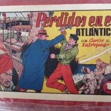 Tebeos: CARLOS EL INTREPIDO , N. 19 , PERDIDOS EN EL ATLANTICO , HISPANO AMERICANA 1942 BAÑON , REAL MADRID. Lote 43582197