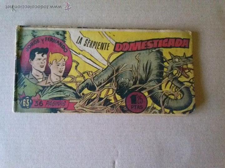 JORGE Y FERNANDO Nº 63 - HISPANO AMERICANA (Tebeos y Comics - Hispano Americana - Jorge y Fernando)