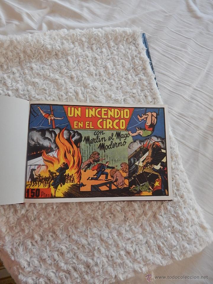 Tebeos: MERLIN EL MAGO MODERNO - FACSIMIL - 2 TOMOS - Foto 4 - 44256111