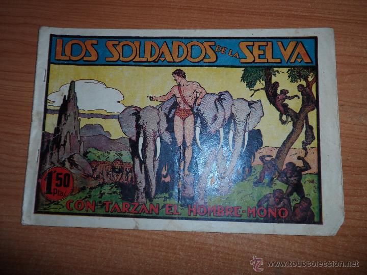 TARZAN Nº 9 HISPANO AMERICANA ORIGINAL CROMOS FUTBOL MEDRANO HERCULES RABOREDO CORUÑA RUIZ ZARAGOZA (Tebeos y Comics - Hispano Americana - Tarzán)