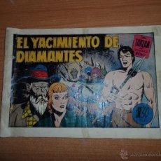 Tebeos: TARZAN Nº 16 EL YACIMIENTO DE DIAMANTES HISPANO AMERICANA 1942 20X32 ORIGINAL. Lote 45198291