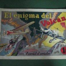 Tebeos: ANTIGUO TBO EL ENIGMA DEL VOLCAN CON DANIEL EL AVIADOR EDITORIAL HISPANO AMERICANA - AÑO 1940S.. Lote 45379746