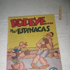 Tebeos: COLECCIÓN AUDAZ - POPEYE Y LAS ESPINACAS DE LA EDITORIAL HISPANO AMERICANA AÑO 1940S.. Lote 45474312
