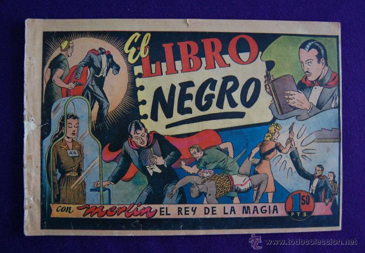 MERLIN. EL REY DE LA MAGIA. EL LIBRO NEGRO. AÑO 1942. EDIT HISPANO AMERICANA. (Tebeos y Comics - Hispano Americana - Merlín)
