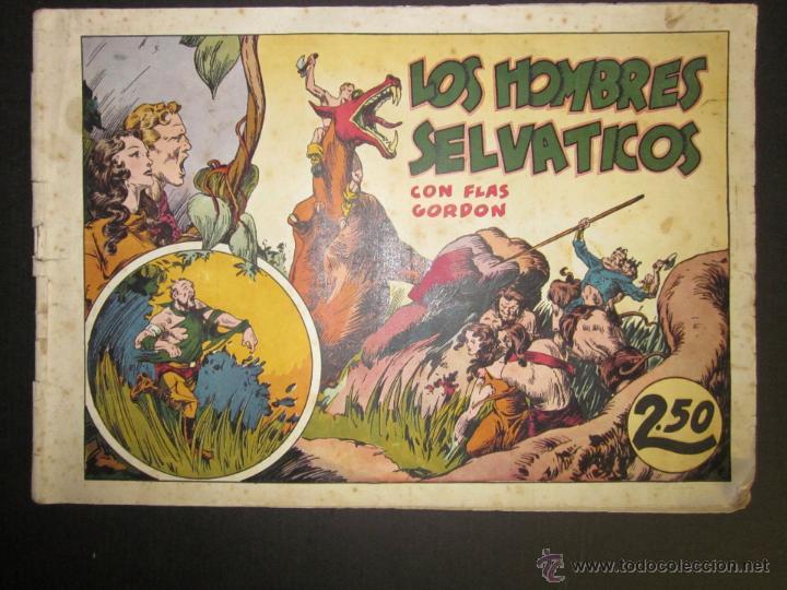 FLASH GORDON - ORIGINAL - LOS HOMBRES SELVATICOS - 2,50 PESETAS - (COM -201) (Tebeos y Comics - Hispano Americana - Flash Gordon)