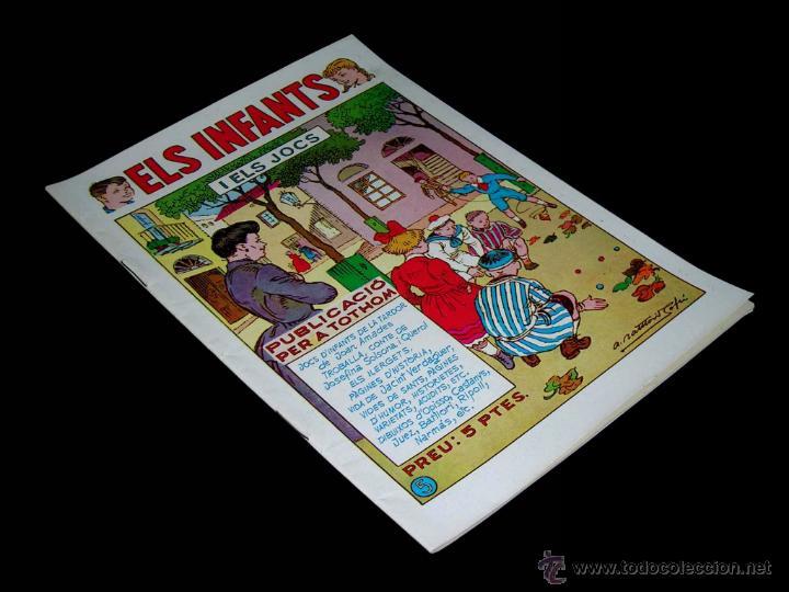 ELS INFANTS Nº 5 I ELS JOCS, ED. HISPANO AMERICANA EN CATALÁN. ORIGINAL 1957. EXCELENTE (Tebeos y Comics - Hispano Americana - Otros)
