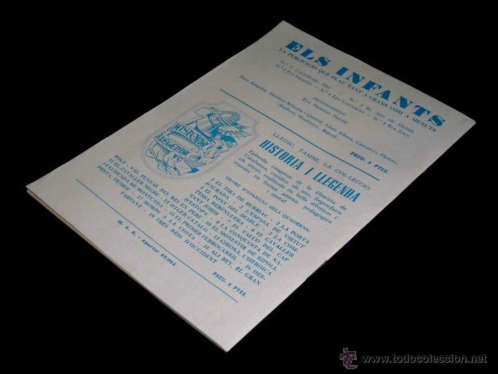 Tebeos: Els Infants nº 5 i els jocs, Ed. Hispano Americana en catalán. Original 1957. Excelente - Foto 3 - 46110279