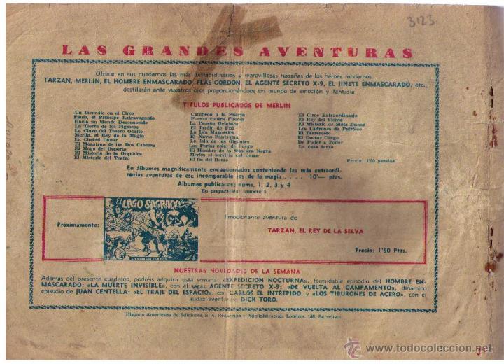 Tebeos: Merlín nº 31. El espejo roto. Hispano Americana 1942. - Foto 2 - 46344917
