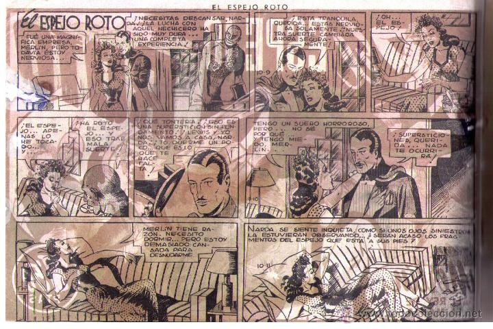 Tebeos: Merlín nº 31. El espejo roto. Hispano Americana 1942. - Foto 3 - 46344917
