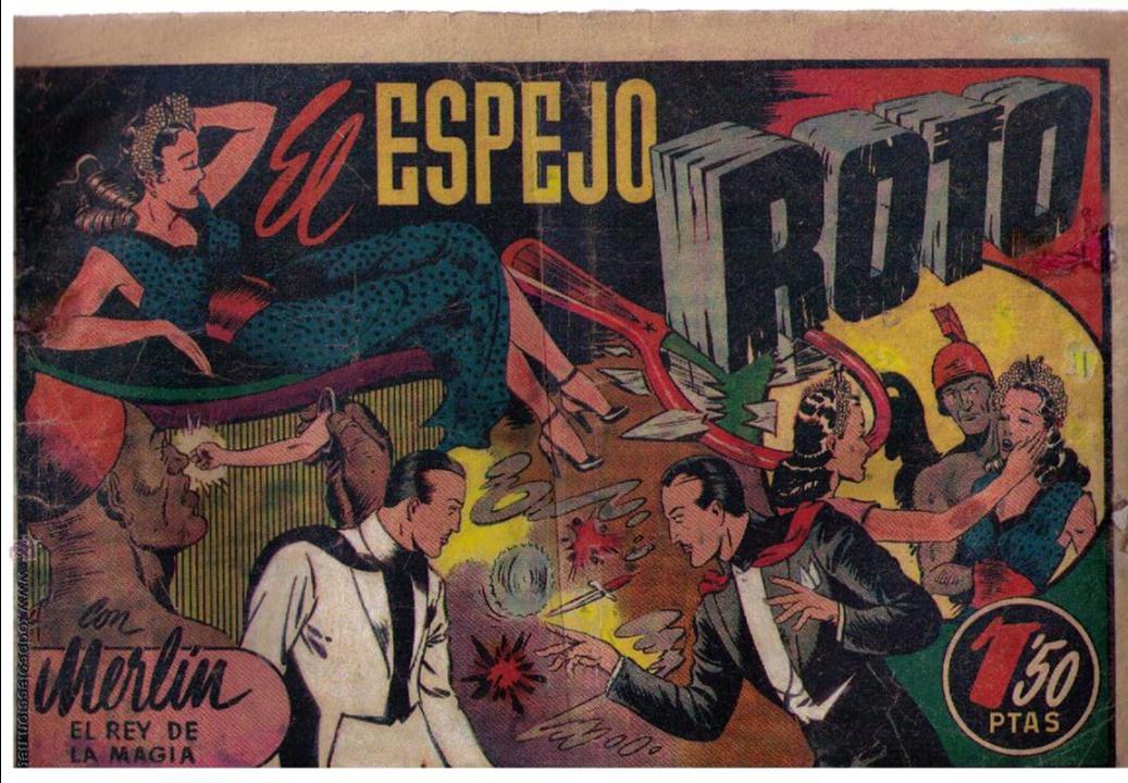 MERLÍN Nº 31. EL ESPEJO ROTO. HISPANO AMERICANA 1942. (Tebeos y Comics - Hispano Americana - Merlín)