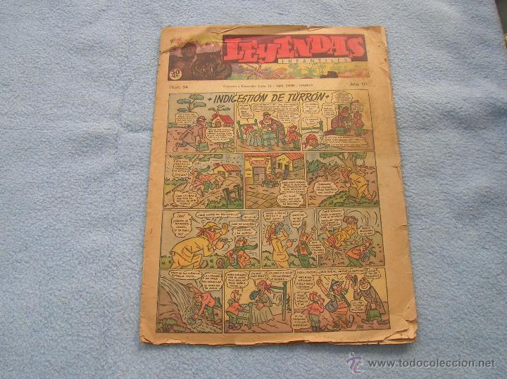 LEYENDAS EL NUMERO UNO DE HISPANO AMERICANA, 84 VER FOTOS ESTINTIN (Tebeos y Comics - Hispano Americana - Leyendas Infantiles)