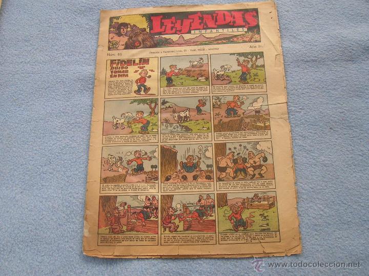 LEYENDAS EL NUMERO DOS DE HISPANO AMERICANA 85 DE LA COLECCION ESTINTIN (Tebeos y Comics - Hispano Americana - Leyendas Infantiles)