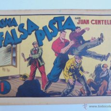 Livros de Banda Desenhada: JUAN CENTELLA - UNA FALSA PISTA - HISPANO AMERICANA - 21 X 32 - JLV. Lote 46423824