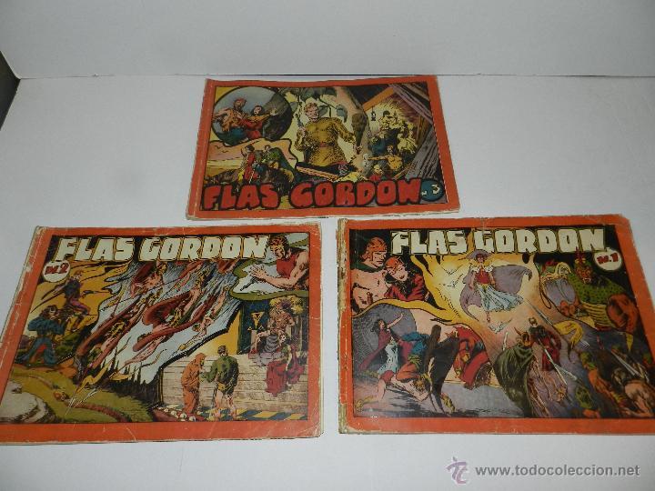 (M-1) FLASH GORDON , COMPLETA !!!!! 3 VOLUMENES , EDT HISPANO AMERICANA 1944 , ALBUM ROJO (Tebeos y Comics - Hispano Americana - Flash Gordon)