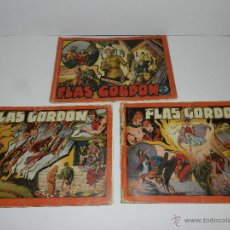 Tebeos: (M-1) FLASH GORDON , COMPLETA !!!!! 3 VOLUMENES , EDT HISPANO AMERICANA 1944 , ALBUM ROJO. Lote 46544102