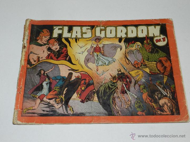 Tebeos: (M-1) FLASH GORDON , COMPLETA !!!!! 3 VOLUMENES , EDT HISPANO AMERICANA 1944 , ALBUM ROJO - Foto 2 - 46544102