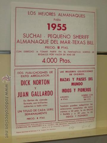 Tebeos: ALMANAQUE TEXAS BILL PARA 1955 HISPANO AMERICANA DE EDICIONES REEDICION - Foto 2 - 194372527