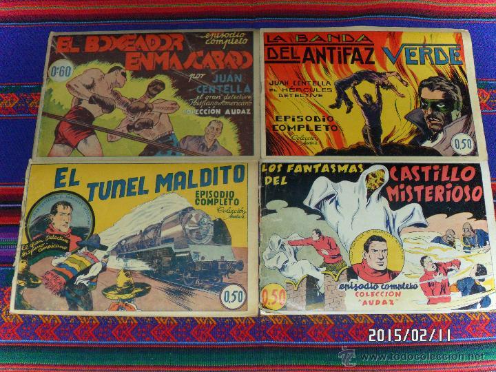 JUAN CENTELLA NºS 1 AL 44 ORIGINALES Y SUELTOS. HISPANO AMERICANA 1940. 0,50 PTS. MUY DIFÍCILES!!!!! (Tebeos y Comics - Hispano Americana - Juan Centella)