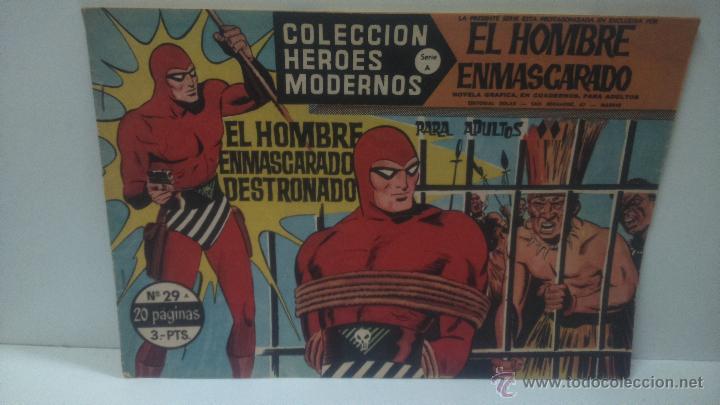 COMIC DEL HOMBRE ENMASCARADO Nº29. COLECCION HEROES MODERNOS. EL HOMBRE ENMASCARADO DESTRONADO (Tebeos y Comics - Hispano Americana - Hombre Enmascarado)